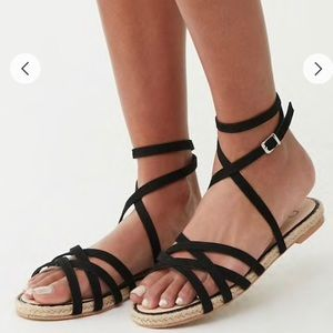 NEW black wrap sandals